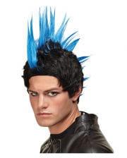 Irokesen Perücke Deluxe blau