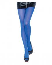 Opaque Nylon Pantyhose Royal Blue
