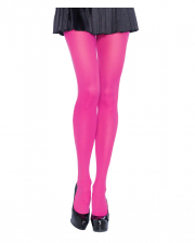 Opaque Nylon Pantyhose Neon Pink