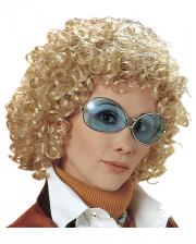 70er Jahre Lockenperücke Beatrice - Blond