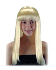 Longhair Wig With Pony Blonde