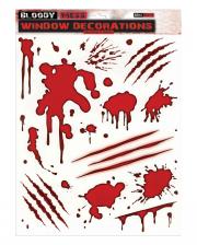 Blutige Fenster Sticker