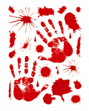 Bloody Hands & Blood Splatter Window Sticker