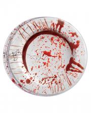 Blutige Party Papp Teller 8 Stück