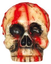 Blutige Totenkopf Kerze 10cm