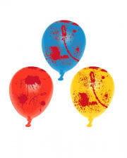 Blutige Halloween Luftballons 6 Stück