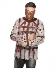 Blutiges Kostümshirt Zwangsjacke Herren