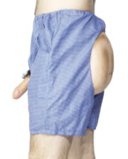 Boxer shorts with penis and buttocks