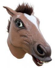 Braune Pferdemaske mit Haaren