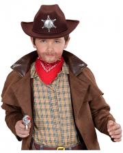 Brauner Cowboy Hut Kindergröße