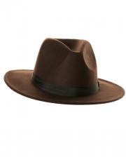 Brauner Filzhut mit Hutband