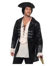 Buccaneer Piraten Kostüm-Jacke schwarz