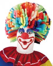 Bunte Clowns Perücke aus Schaumstoff