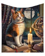 Calico Cat With Atlas Bedspread