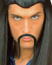 Chinese Mustache Self-adhesive Black