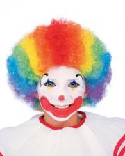 Clown Kinderperücke Multicolor