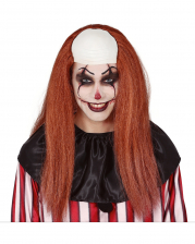 Clown Wig With Long Hair And Semi Bald