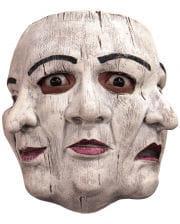 3-gesichtige Theater Maske aus Latex