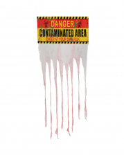 """Contaminated Area"" Warning Sign With Curtain"