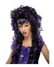 Cosplay Vamp Perücke schwarz violett