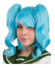 Cosplay Plait Wig Turquoise