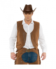 Cowboy Costume Vest Brown