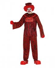 Crazy Killer Clown Herren Kostüm