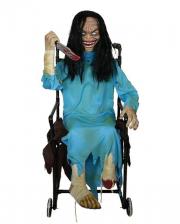 Crazy Zombie Girl im Rollstuhl