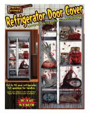 Creepy Halloween Fridge Foil