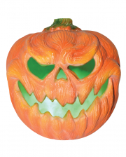 Creepy Kürbis Halloween Deko mit Licht 31cm