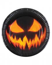 Creepy Pumpkin Paper Plate 6pcs.