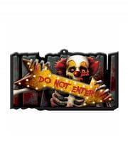 Creepy Clown Warning Sign