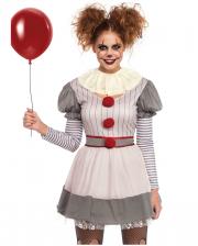 Creepy Clown Minidress Costume