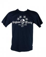 Cutglass Piercing Men T-Shirt Blue