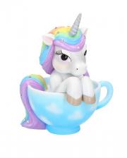 Cutiecorn Unicorn In Tea Cup 14cm