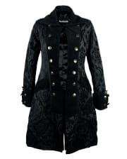 Ladies Pirate Coat Black Brocade