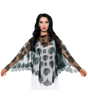 Day of the Dead Spitzen Poncho