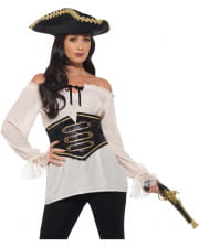 Deluxe Pirate Blouse With Corset
