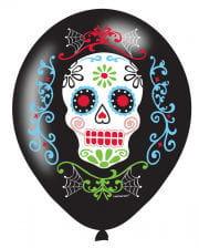 Dia De Los Muertos Balloons 6 Pcs