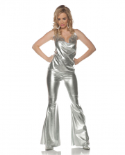 Disco Costume Silver 2 Pieces