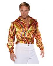 Disco Kostüm Hemd Multicolor