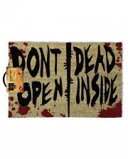 Don't Open Dead Inside The Walking Dead Doormat