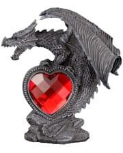 Drachenfigur mit rotem Herz