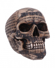 Dracula Skull With Bram Stoker Quotes