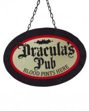 Draculas Pub Kneipenschild mit LEDs 47cm