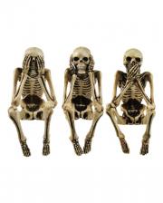 Drei Weise Skelett Figuren 10cm