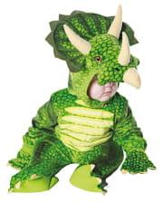 Three Horn Dino Toddler Costume Green