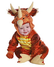 Three Horn Dino Toddler Costume Red