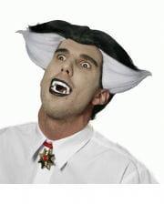 Crazy Vampire Perücke schwarz-weiß