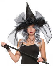 Witch Hat With Glitter And Rose